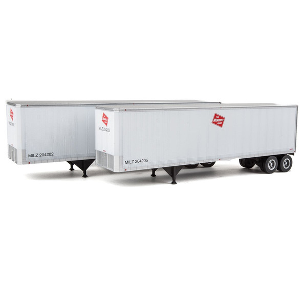 Walthers 949-2513 40' Trailmobile Trailer Milwaukee Road 2-Pack HO Scale