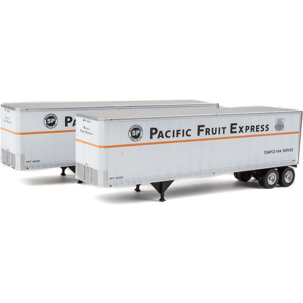 Walthers 949-2514 40' Trailmobile Trailer Pacific Fruit Express 2-Pack HO Scale