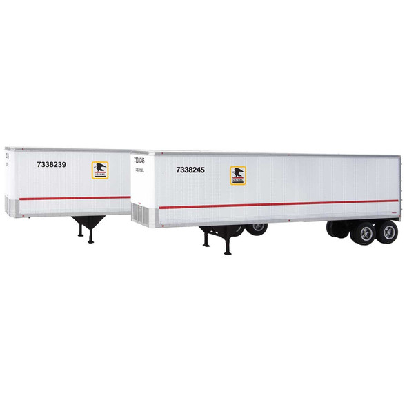 Walthers 949-2517 40' Trailmobile Trailer US Postal Service 2-Pack HO Scale
