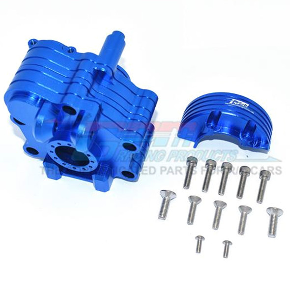 GPM Racing Aluminum Center Gearbox Blue : 1/5 KRATON 8S BLX / OUTCAST  8S BLX