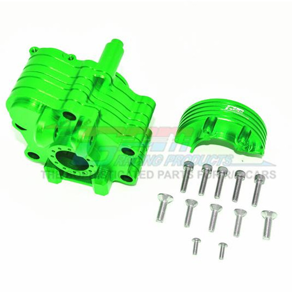 GPM Racing Aluminum Center Gearbox Green : 1/5 KRATON 8S BLX / OUTCAST  8S BLX