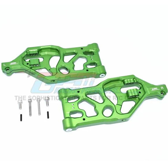 GPM Racing Aluminum Front Lower Arms Green : 1/5 KRATON / OUTCAST 8S BLX