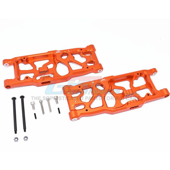 GPM Racing Aluminum Rear Lower Arms Orange : 1/5 KRATON / OUTCAST 8S BLX