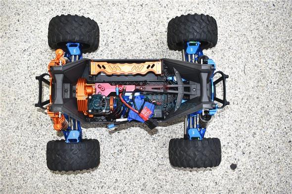 GPM Alum F&R Upp+Low Arms+F&R Adj CVD Drive Shaft+Hex Adap+Whl Lock Blue : Maxx