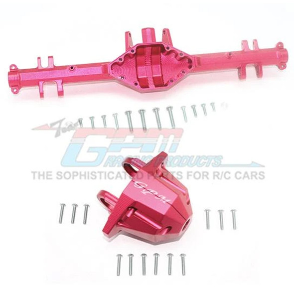 GPM Aluminum Rear Axle Housing w/ Carrier Red : Unlimited Desert Racer