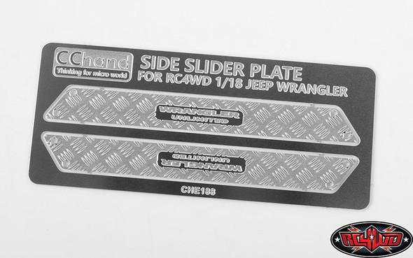 RC4WD VVV-C0595 Metal Side Diamond Plates : 1/18 Gelande II Black Rock