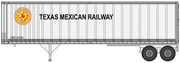 Walthers 949-2516 40' Trailmobile Trailer Texas Mexican Railway 2-Pack HO Scale