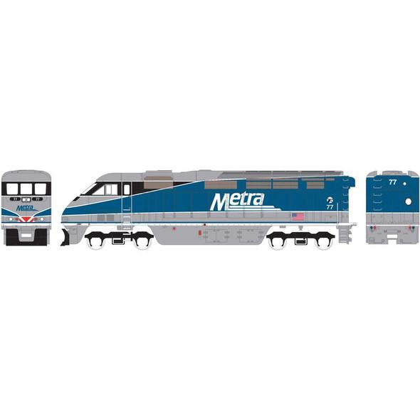 Athearn ATH15359 F59PHI Metra #77 Locomotive w/ DCC & Sound N Scale