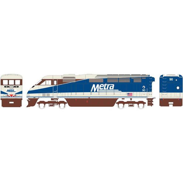 Athearn ATH15361 F59PHI Metra #90 Locomotive w/ DCC & Sound N Scale