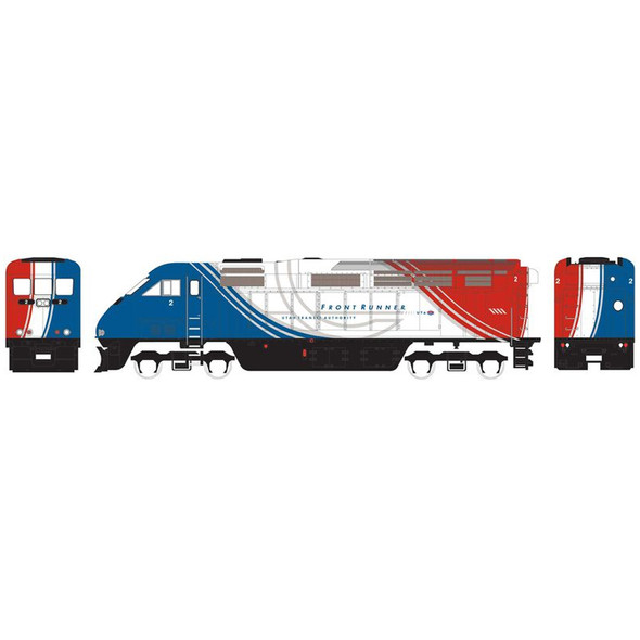 Athearn ATH15364 F59PHI Utah Front Runner Locomotive w/ DCC & Sound UTAX #2 N Scale