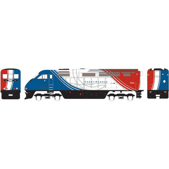 Athearn ATH15365 F59PHI Utah Front Runner Locomotive w/ DCC & Sound #6 N Scale
