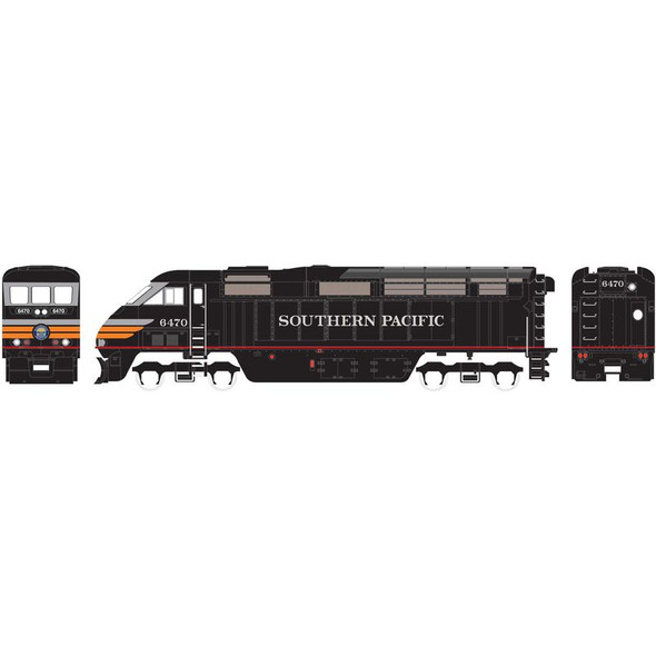 Athearn ATH15372 F59PHI Southern Pacific Locomotive #6470 w/ DCC & Sound N Scale