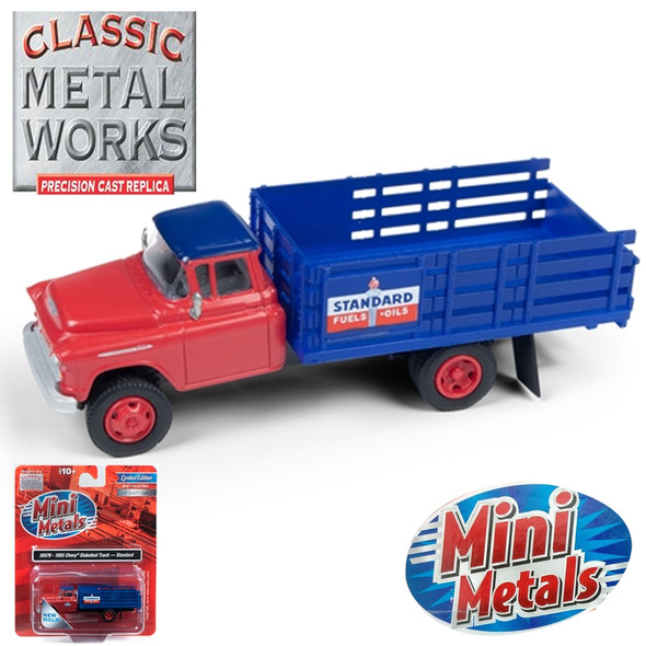 Classic Metal Works 30579 1955 Chevy Stakebed Truck Standard 1:87 HO Scale