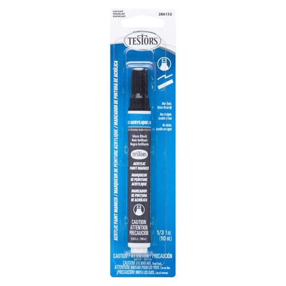 Testors 286132 Acrilic Paint Marker Gloss Black