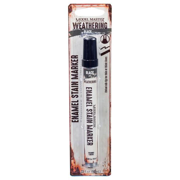 Testors 342897 Model Master .33oz Enamel Stain Markers Black