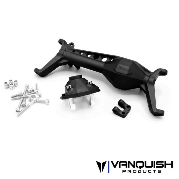 Vanquish VPS08490 Currie F9 Portal Offset Front Axle Black : Axial SCX10-III