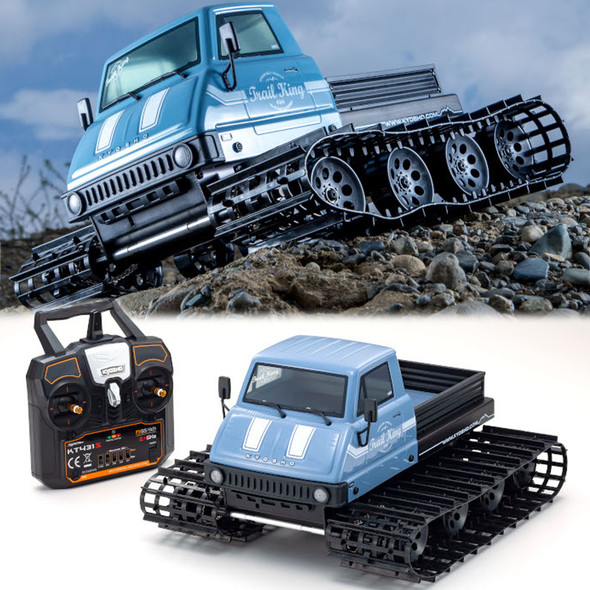 Kyosho 34903T2 1/12 Trail King RTR Blue w/ Radio / Battery / USB Charger