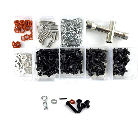 NHX 240Pcs Repair Tool and Screw Box Set Body Clips / Washers / Pins for 1/10