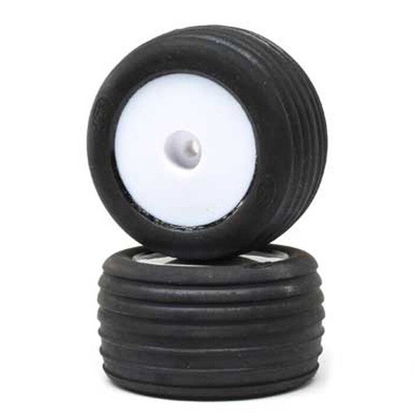 Losi LOS41014 Directional Tires Front Mounted White Wheels (2) : Mini-T 2.0