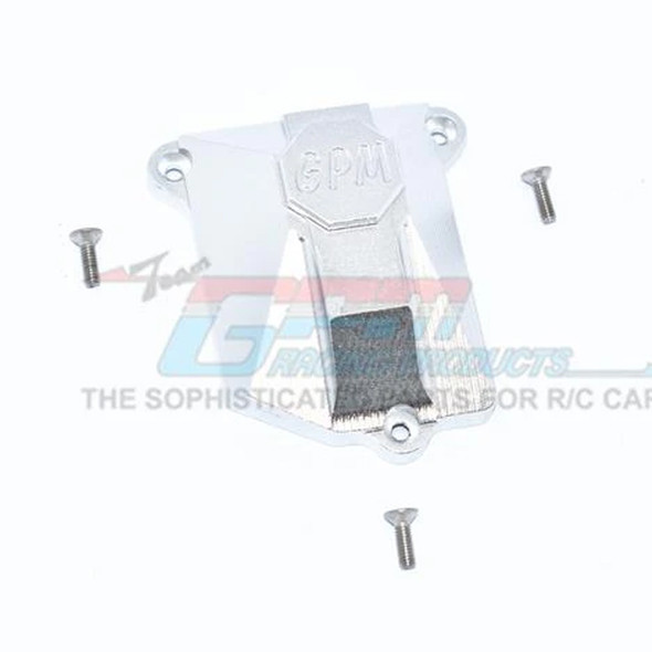 GPM Racing Aluminium Receiver Cover Silver : Axial SCX10 III Jeep JL Wrangler