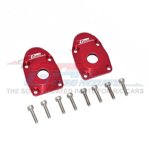 GPM Alum Outer Portal Drive Housing Front Or Rear Red : SCX10 III / Capra 1.9