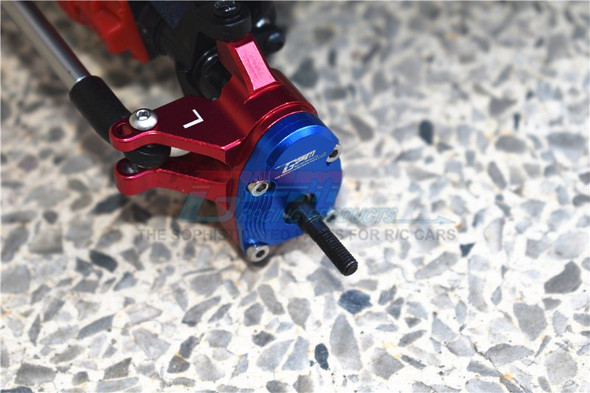 GPM Aluminum Front Knuckle Arms - Blue : Axial SCX10 III / Capra 1.9 UTB