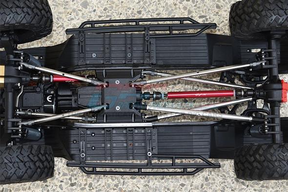 GPM  Steel + Aluminium Front + Rear CVD Drive Shaft - Red : Axial SCX10 III