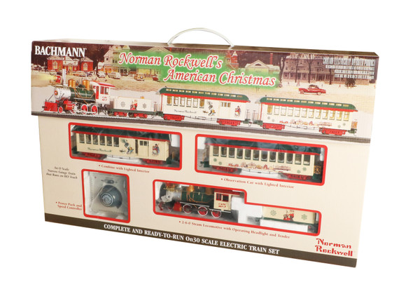 Bachmann 25023 Norman Rockwell's American Christmas Train Set : On30 Scale