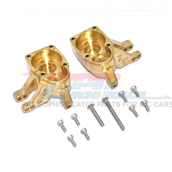 GPM Brass Inner Part Of Front Knuckle Arms : Axial SCX10 III / Capra 1.9