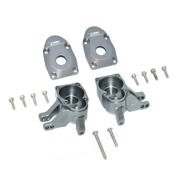 GPM Aluminum Front Knuckle Arms - Grey : Axial SCX10 III / Capra 1.9 UTB