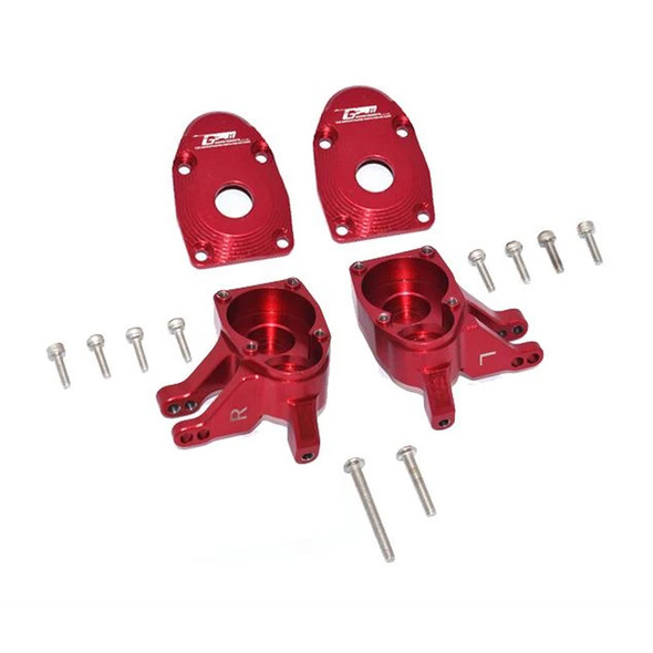 GPM Aluminum Front Knuckle Arms - Red : Axial SCX10 III / Capra 1.9 UTB