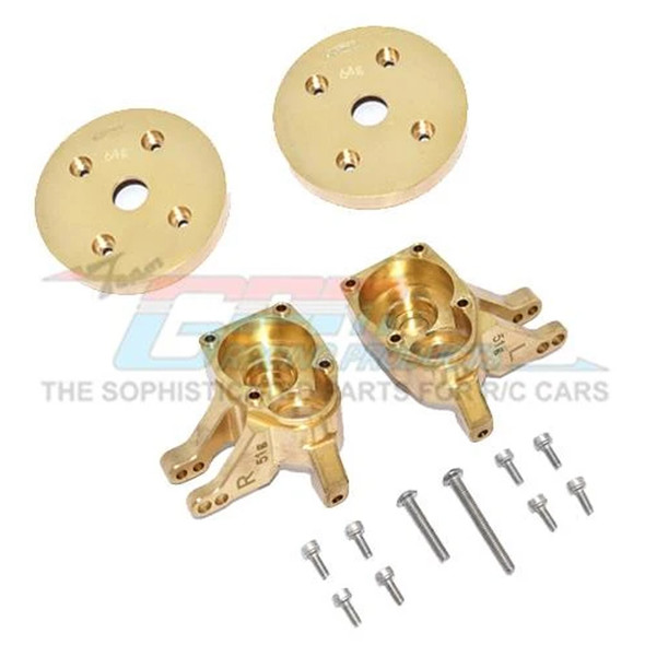 GPM Brass Front Knuckle Arms Heavy Edition : Axial SCX10 III / Capra 1.9