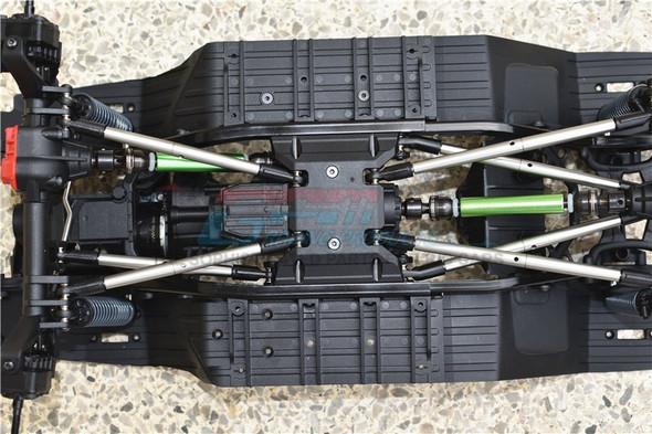 GPM Steel+Aluminium Front + Rear CVD Drive Shaft Silver : Axial SCX10 III Jeep JL