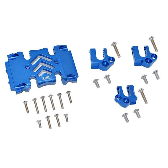 GPM Aluminum Center Gear Box Case & Mount Blue : Axial SCX10 III Wrangler