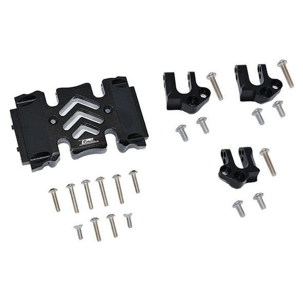 GPM Aluminum Center Gear Box Case & Mount Black : Axial SCX10 III Wrangler