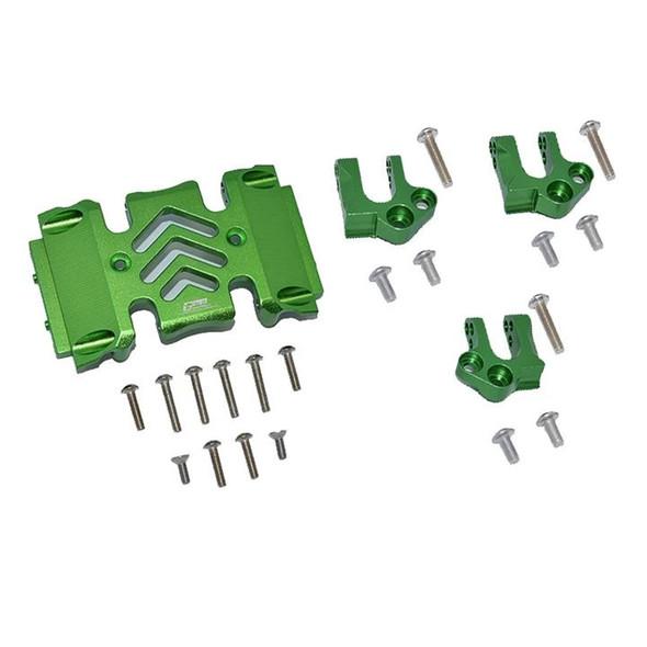 GPM Aluminum Center Gear Box Case & Mount Green : Axial SCX10 III Wrangler