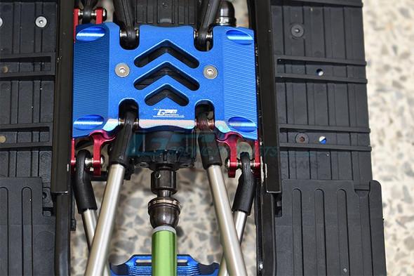 GPM Aluminum Center Gear Box Case & Mount Grey : Axial SCX10 III Wrangler