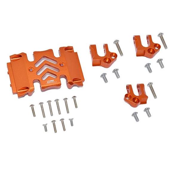 GPM Aluminum Center Gear Box Case & Mount Orange : Axial SCX10 III Wrangler