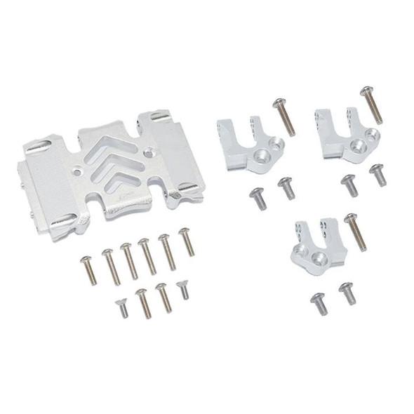 GPM Aluminum Center Gear Box Case & Mount Silver : Axial SCX10 III Wrangler