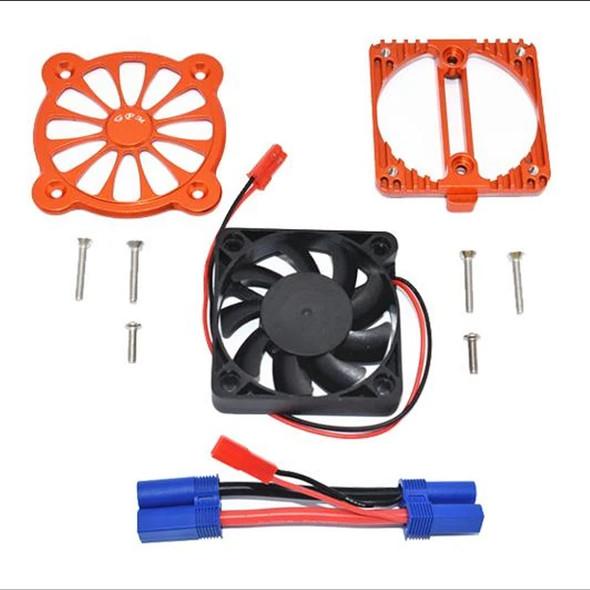 GPM Aluminum Motor Heatsink w/ Cooling Fan Orange : 1/10 4S Kraton / 3S Senton