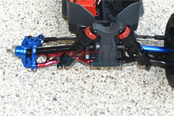GPM Racing Aluminum Front Knuckle Arms Blue : 1/10 KRATON 4S BLX