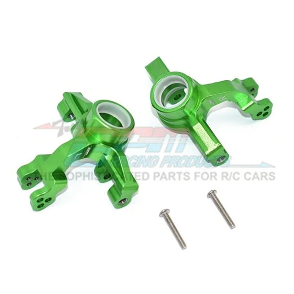 GPM Racing Aluminum Front Knuckle Arms Green : 1/10 KRATON 4S BLX