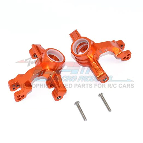 GPM Racing Aluminum Front Knuckle Arms Orange : 1/10 KRATON 4S BLX