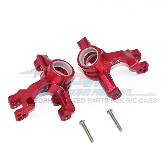 GPM Racing Aluminum Front Knuckle Arms Red : 1/10 KRATON 4S BLX