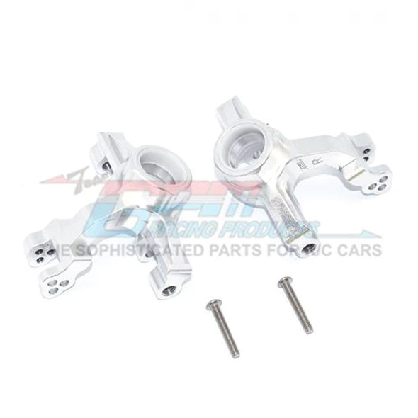 GPM Racing Aluminum Front Knuckle Arms Silver : 1/10 KRATON 4S BLX
