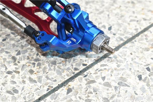 GPM Alum Front C-Hubs + Front & Rear Knuckle Arms Blue : 1/10 Kraton 4S BLX