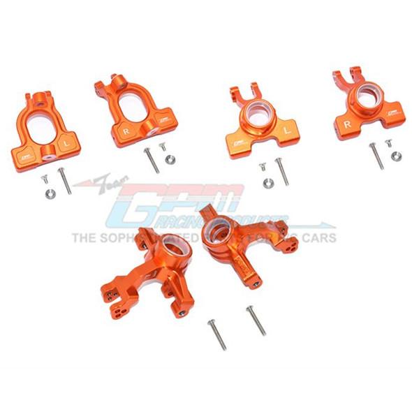 GPM Alum Front C-Hubs + Front & Rear Knuckle Arms Orange : 1/10 Kraton 4S BLX