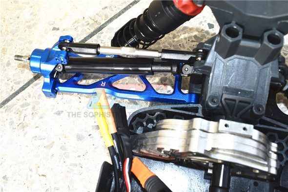 GPM Racing Aluminum Front & Rear Lower Arms Blue : 1/10 Kraton 4S BLX
