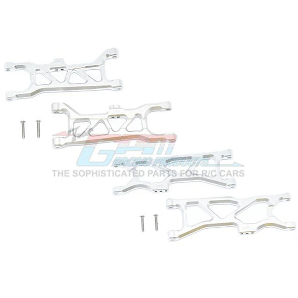 GPM Racing Aluminum Front & Rear Lower Arms Silver : 1/10 Kraton 4S BLX
