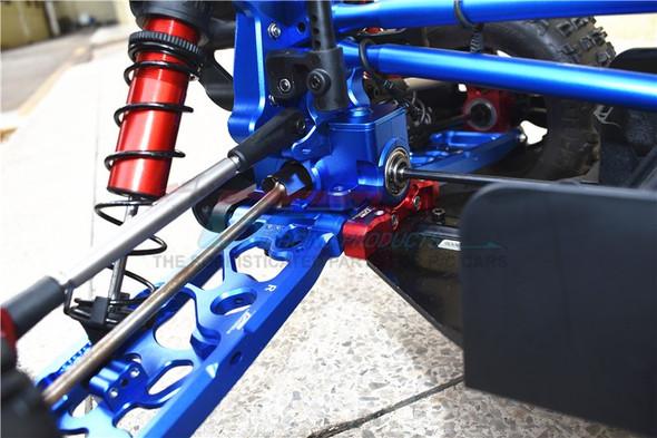 GPM Racing Aluminum Rear Gear Box Silver : 1/5 Kraton & Outcast  8S BLX